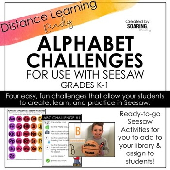 Alphabet Challenges | For Use with Seesaw