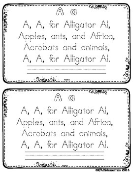 Alphabet Poems: Zoo Phonics Animals, Alliteration, Poetry, Tracing Letters