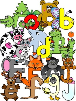 Alphabet Character Clipart Graphics- Commercial & Personal Use (106 images)