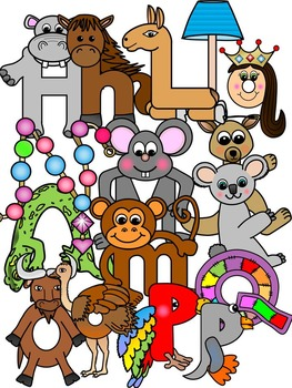 Alphabet Clipart Graphics- Alphabet Cartoon Clipart (106 images)