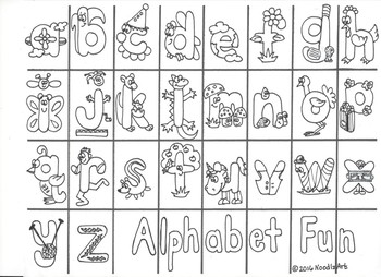 Alphabet Characters to Cut and Paste (lower case)