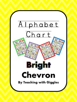 Bright Chevron Alphabet Chart