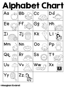 Set of 10 Alphabet Charts {CUTE}