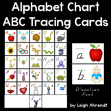Alphabet Chart & ABC Tracing Cards (D'nealian Font)