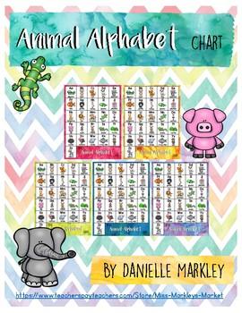 Alphabet Chart - Animal Version