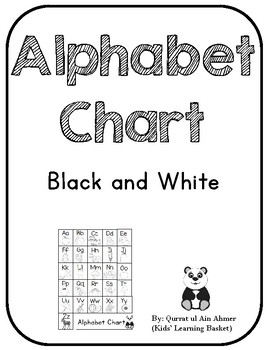 Alphabet Chart---Black and White