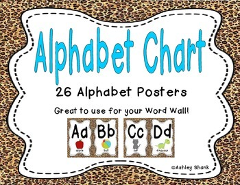 Alphabet Chart - Cheetah Print