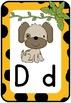 Alphabet Chart: Cheetah Print, Jungle Theme