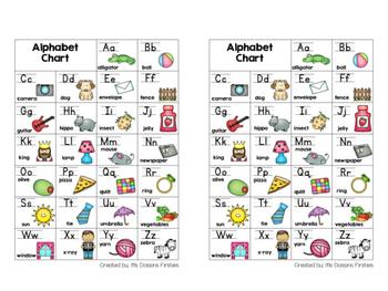 Alphabet Chart Desk Helper FREEBIE