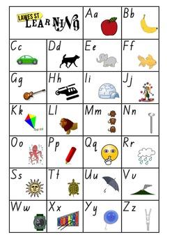 Alphabet Chart Foundation Font