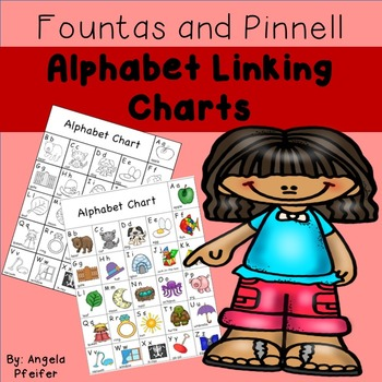 Alphabet Linking Charts Fountas and Pinnell- Color/B&W