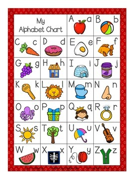 Alphabet Chart--Freebie!