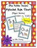 Alphabet Chart Letters & Signs SPANISH {Blue Bubbles Design}