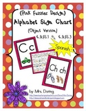 Alphabet Chart Letters & Signs SPANISH {Pink Fuzzies Design}
