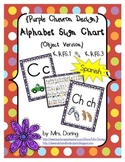 Alphabet Chart Letters & Signs SPANISH {Purple Chevron Design}
