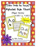 Alphabet Chart Letters & Signs SPANISH {Yellow Doodle Bee Design}