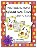 Alphabet Chart Letters & Signs (Treasures Version) {Yellow Doodle Bee Design}