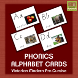 Alphabet Chart Picture Cards With Real Images - Victorian Modern Pre-Cursive