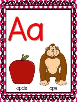 Alphabet Chart Poster Set