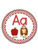 Alphabet Chart Poster Set (chevron, diagonal stripes, and polka dots edition)