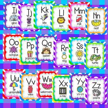 Alphabet Chart - Primary Scallop Stitch