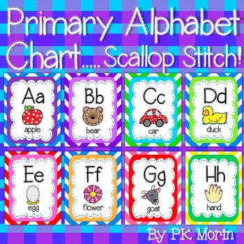 Alphabet Chart - Primary Scallop Stitch