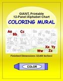 Alphabet Chart: Printable 12-Panel ABC Letters Coloring Wa