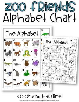 Alphabet Chart {Zoo Friends}