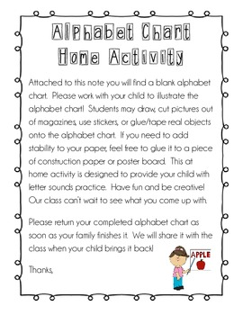 Alphabet Chart {at home activity}