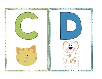 Alphabet Word Wall Chart and Alphabet Posters Bulletin Board or Literacy Centers