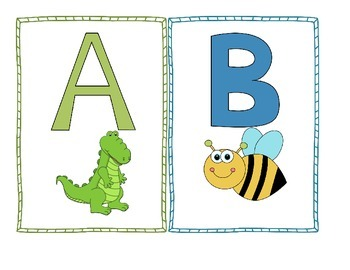 Alphabet Word Wall Chart and Alphabet Posters Bulletin Boa