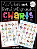 Alphabet Chart for Emerging Writers & Beginning Blends and Digraphs Chart