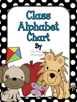 Alphabet Chart for the Classroom