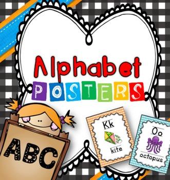 Alphabet Chart (gingham)