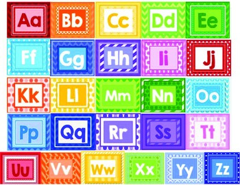 Alphabet Chart in Rainbow Colors for Back to School