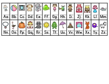 Alphabet Chart w/ Pictures