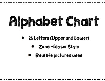 Alphabet Chart with Real Photos