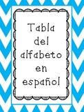Alphabet Chart with and without words-SPANISH