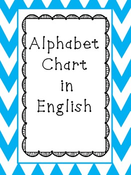 Alphabet Chart (with and without words) in ENGLISH