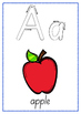 Alphabet Charts A-Z with letter starting points (can also