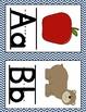Alphabet Charts: Blue & White Chevron