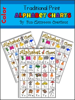Alphabet Charts - Color, Traditional Print