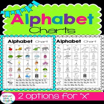 Alphabet Charts {Bright & Bold}
