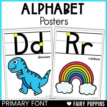 Alphabet Charts - D'Nealian and Zaner-Bloser Fonts