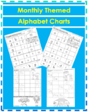 Alphabet Writing Practice - Monthly Themed Alphabet Charts