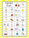 Alphabet Charts {chevron, polka dot, zebra} D'Nealian with