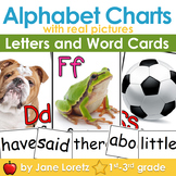 Alphabet Charts with Real Pictures (Includes words for your word wall)
