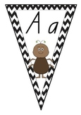 Alphabet Chevron Bunting - Queensland Beginners Font