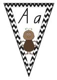 Alphabet Chevron Bunting - Queensland Beginners Font