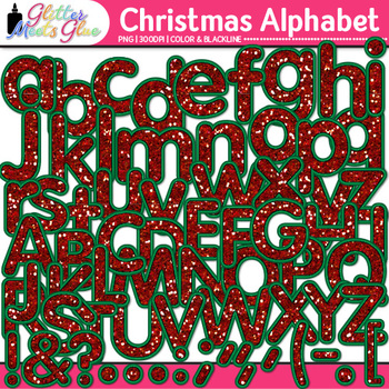 Christmas Alphabet Clip Art {Great Holiday Classroom Decor & Resources}